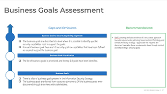Business Goals Assessment