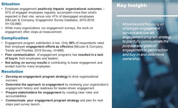 Develop an Engagement Program Strategy, McLean & Company