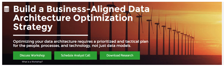 A screenshot of Info-Tech's Build a Business-Aligned Data Architecture Optimization Strategy