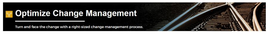 Screenshot of Info-Tech's Optimize Change Management.