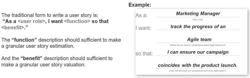 Model on how to build user stories