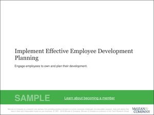 Implement Effective Employee Development Planning   McLean & Company
