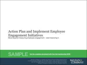 Implement an Action Plan for Employee Engagement Initiatives ...
