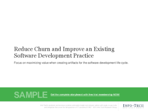 Reduce Churn and Improve an Existing Software Development